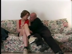 juvenile babe fucked in the ass by older chap -