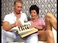 nephew catches his mature aunty very hot and