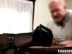 granddad has a footfetish