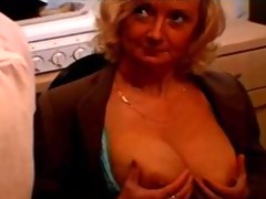 french blonde granny with large boobs and
