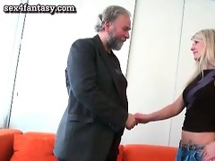 blond gets screwed by old dude