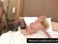blonde busty milf fucked by horny darksome man