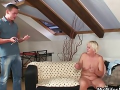 naughty oldie widens legs for son-in-law