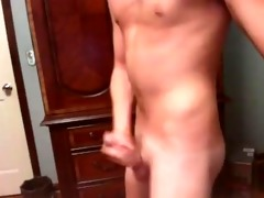 hot vocal lad stroking with fleshlight cam