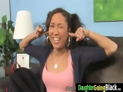 young daughter with admirable gazoo drilled by a