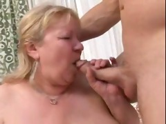 bbw mother with juvenile man on divan