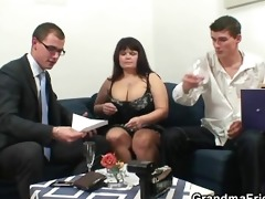 her old corpulent pussy receives nailed by dicks